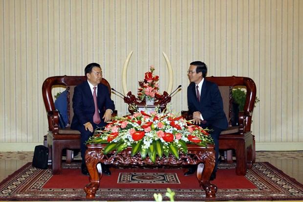 胡志明市领导人会见中国共产党代表团 hinh anh 1