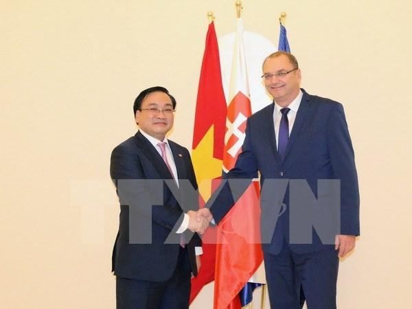 越南政府副总理黄忠海对斯洛伐克进行正式访问 hinh anh 1