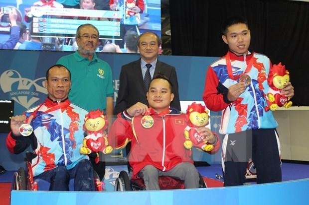 第八届东南亚残运会:越南打破东南亚两个纪录 hinh anh 1