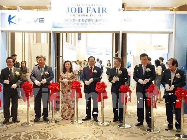2015年越韩人才招聘会在胡志明市举行 hinh anh 1