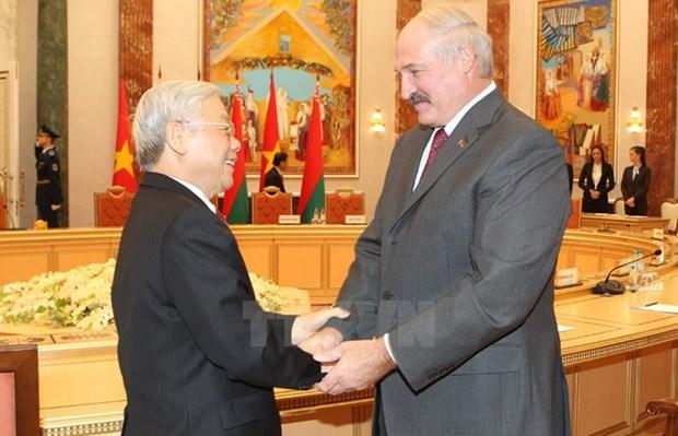 白俄罗斯总统对越南进行国事访问:促进越白传统友谊与多方面合作关系 hinh anh 1