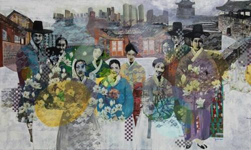 """""""越南画家眼中的韩国""""绘画比赛作品展在河内开展 hinh anh 1"""
