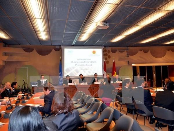 越南与瑞士贸易投资促进论坛在日内瓦举行 hinh anh 1
