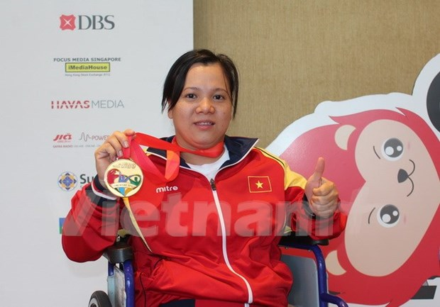 第8届东盟残疾人运动会:越南以18金19银17铜在奖牌榜上居第三位 hinh anh 1