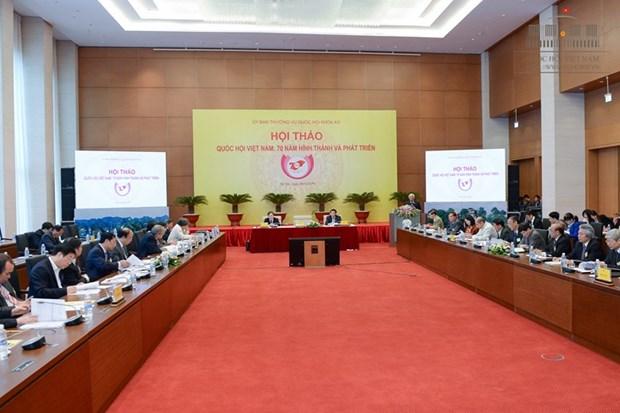 """""""越南国会:成立与发展70年历程""""研讨会在河内举行 hinh anh 2"""
