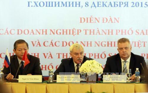 越南胡志明市与俄罗斯圣彼得堡市促进多领域合作 hinh anh 1