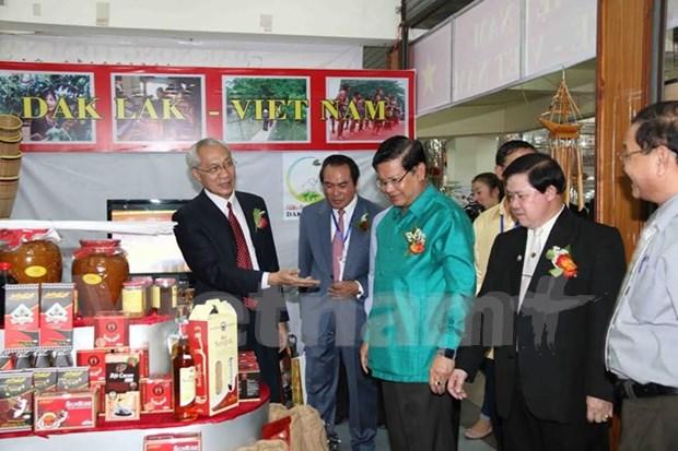 柬老越发展三角区贸易旅游展销会在老挝举行 hinh anh 1