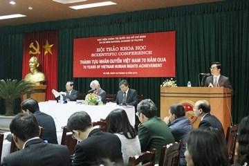 越南人权成就科学研讨会在河内举行 hinh anh 1