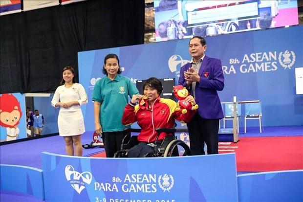 第八届东南亚残疾人运动会落幕:越南残疾人体育代表团位居奖牌榜第四 hinh anh 1