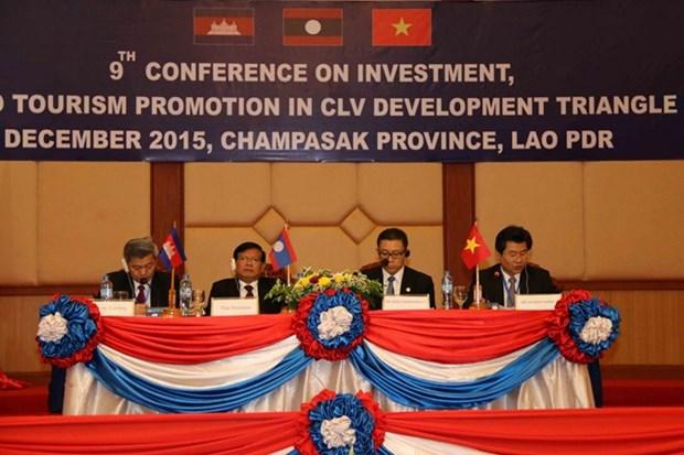 越南出席第九次柬老越发展三角区贸易、投资与旅游促进会议 hinh anh 1
