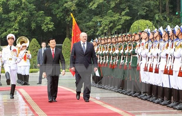 越南与白俄罗斯发表关于巩固和全面发展两国关系的联合声明(全文) hinh anh 1