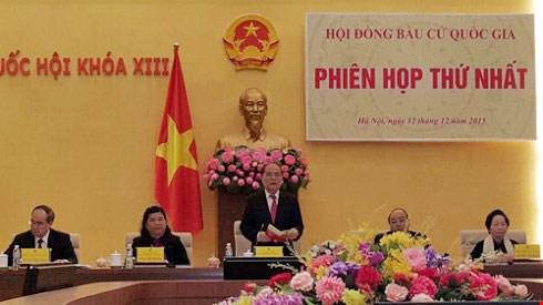 越南国家选举委员会召开第一次会议 hinh anh 1