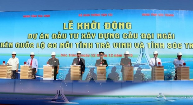朔庄省大义桥建设项目正式动工兴建 hinh anh 1
