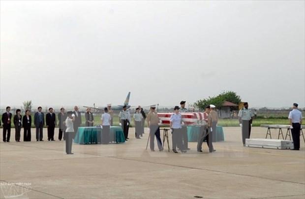 越战美军遗骨返国仪式在河内举行 hinh anh 1