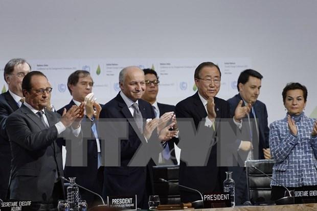 气候变化巴黎大会通过《巴黎协定》 hinh anh 1