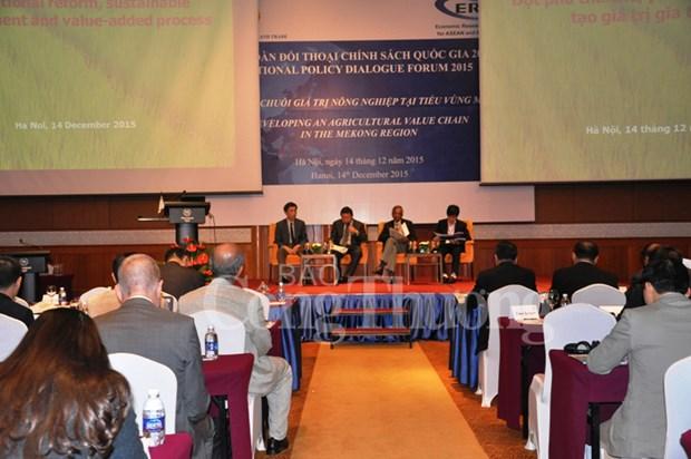 国家政策对话论坛聚焦发展大湄公河次区域农业价值链 hinh anh 1