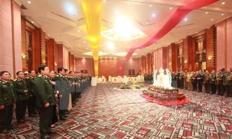 越南国防部举行招待会 纪念越南人民军成立71周年 hinh anh 1