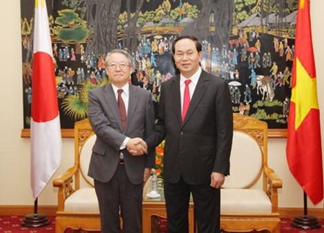 越南公安部部长陈大光会见日本国家警察代表团 hinh anh 1