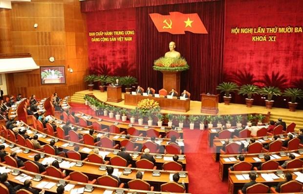 越共第十一届中央委员会第十三次全体会议第二天 hinh anh 1
