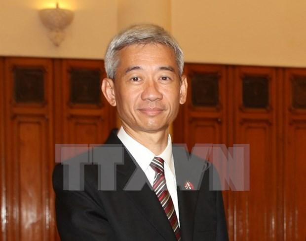 """越南授予泰国驻越大使""""致力于各民族和平友谊""""纪念章 hinh anh 1"""