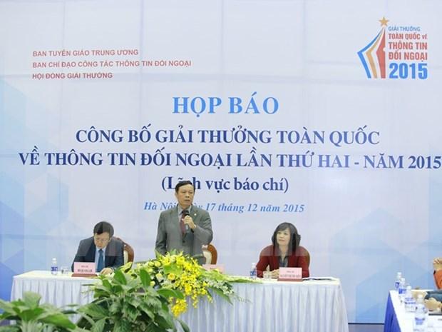 2015年第二届越南全国对外新闻奖评选活动正式启动 hinh anh 1