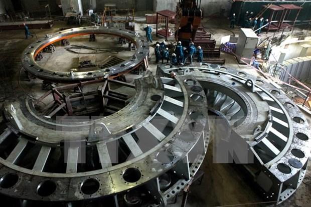 莱州水电站一号机组正式并网发电 hinh anh 1
