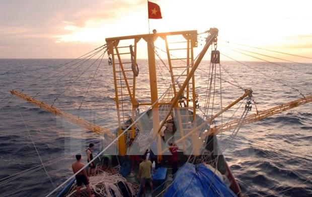 越中两国举行北部湾湾口外海域共同考察启航仪式 hinh anh 1
