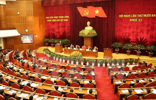 越共第十一届中央委员会第十三次全体会议进入第六天工作日 hinh anh 1