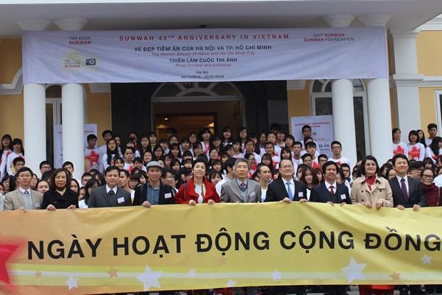 中国新华基金会在河内举行2015年社会服务日 hinh anh 1