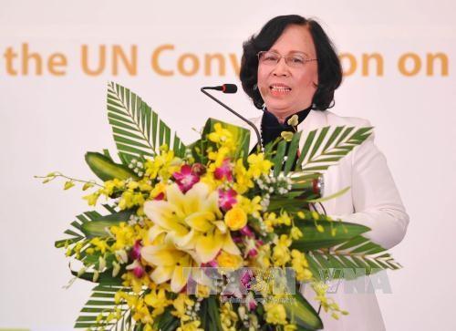 越南批准联合国《儿童权利公约》25周年纪念典礼在河内举行 hinh anh 3