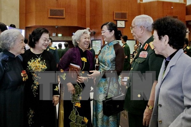 胡志明市与人民军队500多名退休高级干部举行见面会 hinh anh 1