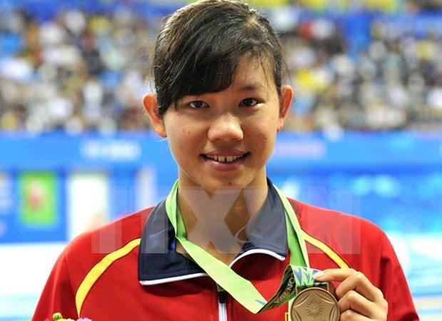 阮氏映圆被评为2015年亚洲最佳五名女游泳运动员之一 hinh anh 1