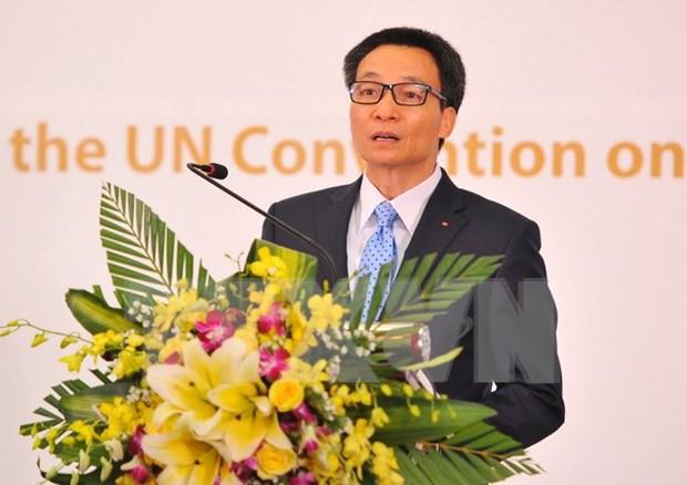 越南批准联合国《儿童权利公约》25周年纪念典礼在河内举行 hinh anh 2