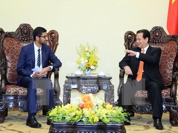 阮晋勇总理会见谷歌首席执行官桑达尔·皮查伊 hinh anh 1
