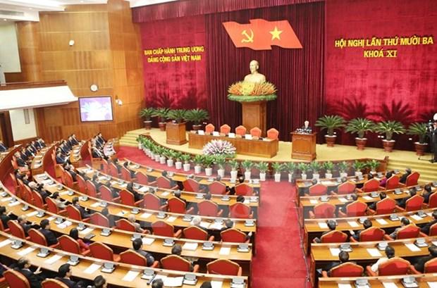 越共十一届中央委员会第十三次会议最后一天的新闻公报 hinh anh 1