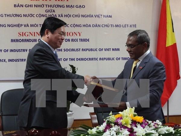 越南与东帝汶签署大米贸易备忘录 hinh anh 1