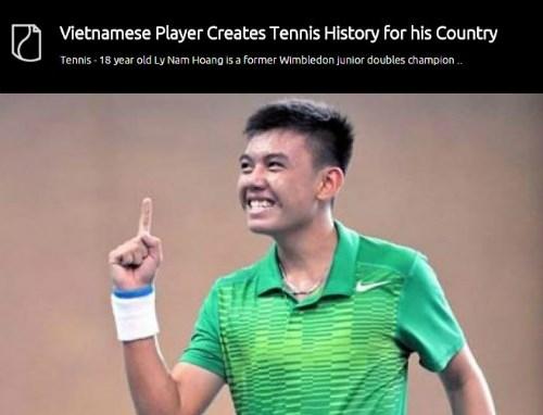 越南年轻网球运动员李黄南受到美媒赞扬 hinh anh 1