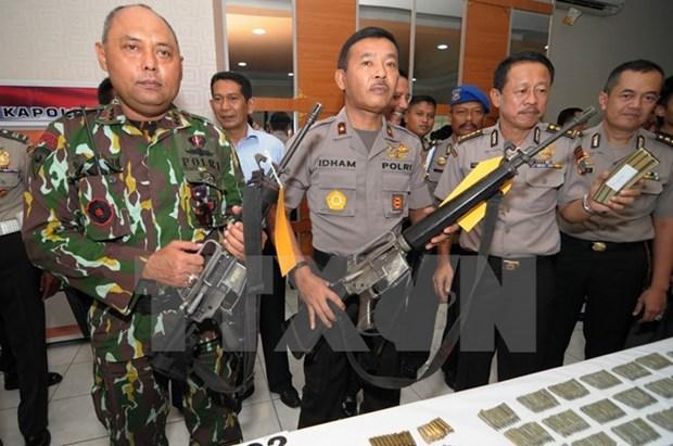 印度尼西亚警方处于最高警戒状态 hinh anh 1
