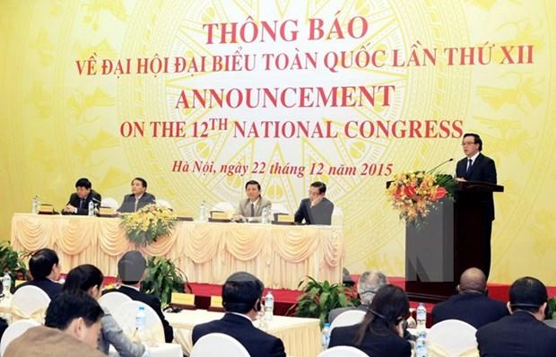 越共十二大将于2016年1月20日在河内开幕 hinh anh 1