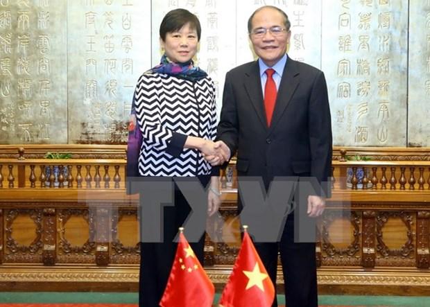 国会主席阮生雄会见中国人民对外友好协会会长李小林 hinh anh 1