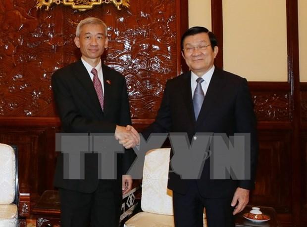 越南国家主席张晋创会见前来辞行拜会的泰国驻越大使潘雅拉克 hinh anh 1