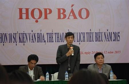 越南2015年十大文化体育旅游事件评选活动启动 hinh anh 1