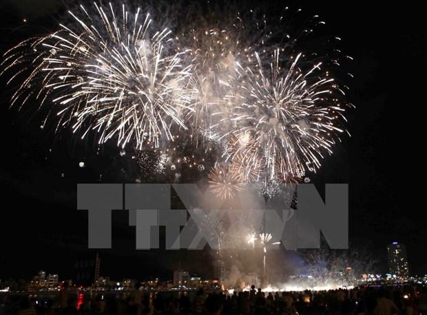 岘港市将举行海滩烟火晚会喜迎2016新年 hinh anh 1