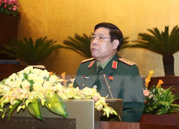 越南高级军事代表团对老挝进行正式友好访问 hinh anh 1