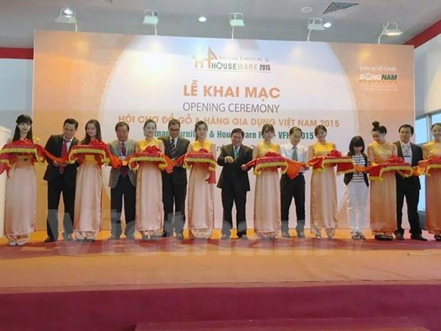 2015年越南木制品与家具用品展销会在胡志明市开展 hinh anh 1