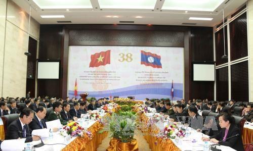 越老越政府间联合委员会第38次会议在老挝万象召开 hinh anh 1