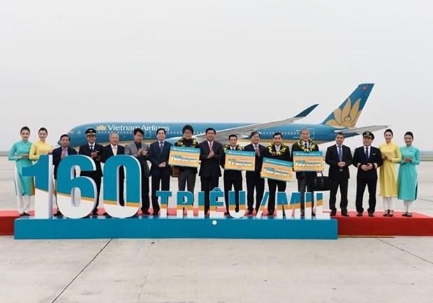越南国家航空总公司迎来第1.6亿名乘客 hinh anh 1