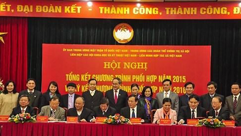 发挥越南祖国阵线中央委员会和各政治社会团体执委会的政治联盟和自愿性联合会作用 hinh anh 1