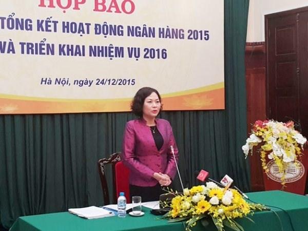 越南银行业设定2016年信贷增长率为18%至20% hinh anh 1