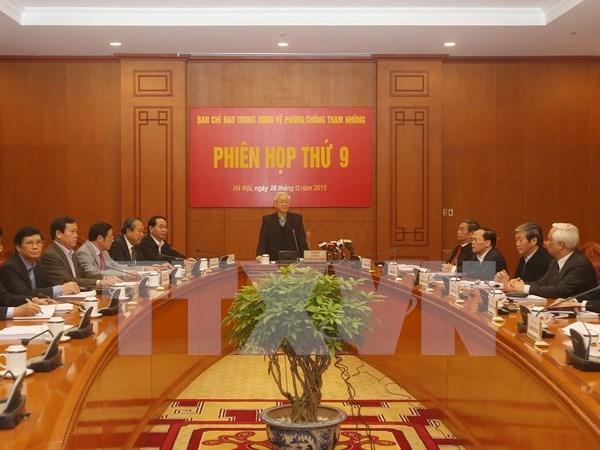 越共中央反腐败指导委员会召开第九次会议 hinh anh 1